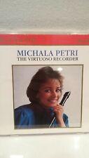 MICHALA PETRI Virtuoso Recorder  CD 1988 RCA Victor Red Seal Bach, Krahmer MINT