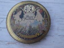 Original 1900's-litho tin-Eden Beauty Face Powder La Salle Products-St.Paul Minn