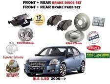 FOR CADILLAC BLS 1.9DT 2006--  FRONT + REAR BRAKE DISCS SET & DISC PAD KIT