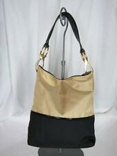 JPK Paris 75 Khaki and Black Two-Tone Nylon Bucket Bag in Very Good Condition