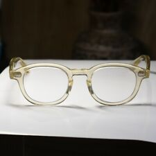 Retro Johnny Depp eyeglasses crystal yellow glasses mens RX lens eyewear unisex