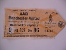 AJAX MANCHESTER TICKET 1976 1977 AND PROGRAMME BOOK AJAX ATHLETICO 1978