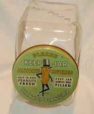 Rare 1940  Leap Year Planters Peanuts Countertop Keep Jar From A Old Tavern,