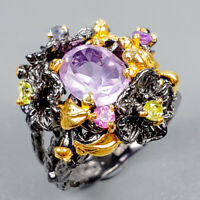 Special Price Natural Amethyst 925 Sterling Silver Ring Size 6.5/R122464