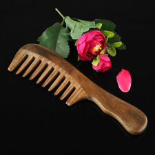 Wooden Wide Tooth Comb Natural Sandalwood Handmade Massage Beauty Hair Care