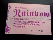 Rainbow Ritchie Blackmore  ticket Whitley Bay Ice Rink 08/09/83