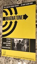Magnatone 1997 Self Titled Promo Only Rare Poster 11X17 Promo For Debut Album