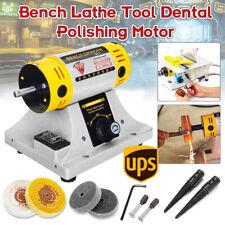 Polishing Machine For All Round Woodworking Jade Jewelry Dental Bench Lathe 350w