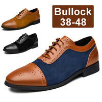Bullock Men's Casual Oxfords Leather Shoes Pointed Toe Formal Office Work Shoes