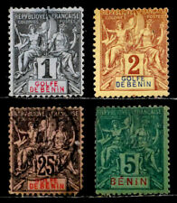 BENIN, FRANCE: 19TH CENTURY CLASSIC STAMP COLLECTION MOSTLY UNUSED MINOR FAULTS