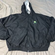 John Deere Logo Black Jacket Coat 2xl Colorado Timberline Mens