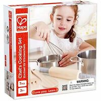 Hape Chef's Cooking Set Wooden Role Play Food Toy Kitchen Pretend Toy New