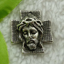 free ship 100 pieces tibet silver Jesus charms 24x22mm #2605