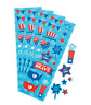 Pack of 12 - Patriotic USA Sticker Sheets - July 4th Party Supplies Bag Fillers