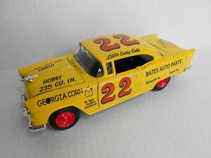 BOBBY BATES  #22  CUSTOM NASCAR 1955 CHEVY BELAIR  /  AUTO PARTS  / DIECAST 1/24