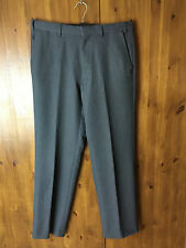 """M&S Pantalones Traje de viaje gris oscuro formal rectos Slim Reino Unido cintura de 32""""/31"""" Leg"""