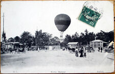 1908 French Aviation Postcard: Hot Air Balloon/Ballon - Paris, Porte Maillot