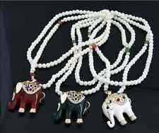 Fashion unique Like the classic good luck beads long necklace sweater Elephant