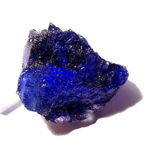 HEATED BLUE SAPPHIRE ROUGH LOOSE NATURAL GEMSTONE