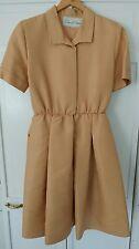 Oscar de la Renta Gold Silk Dupioni Tea Dress, Size 12