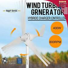 400W Wind Turbine Generator 20A Charger Controller Windmill Power DC 12V