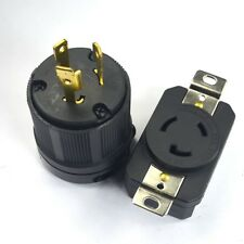 NEMA L6-20P L6-20R 20A 250V Twist Lock Electrical Plug Connector Male + Female