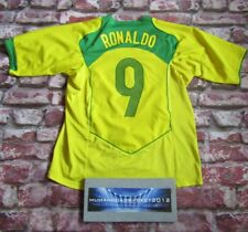 RARE Brazil RONALDO home Football Shirt MEDIUM nike vintage 2004 2006 world cup