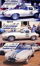 Calcas Jaguar E Type Lighweight Le Mans 1963 1:32 1:24 1:43 1:18 slot decals