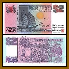 Singapore 2 Dollars, ND 1997 P-34 Unc