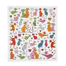 Fancy Self Adhesive Metallic Cats Stickers Sheet For Card Christmas Decorations