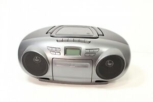 Insignia- Cd/Cassette Boombox With Am/Fm Radio - Black/Gray - Preowned