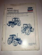 Ford NH 5640 6640 7740 7840 8240 8340 SL/SLE Range Tractor Operator's Manual