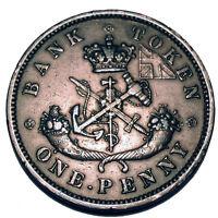 BANK OF UPPER CANADA 1 PENNY 1852 Token H2.5