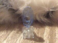 New ListingVintage Crystal Czechoslovakia Perfume Bottle with Blue Stopper