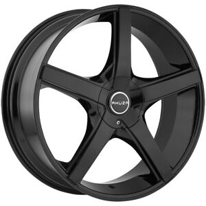 "Akuza 848 Axis 22x8.5 5x112/5x4.5"" +45mm Gloss Black Wheel Rim 22"" Inch"