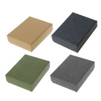 Square Kraft Jewelry Box Necklaces Earrings Bracelets Box Gift Packing Display