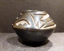 Native Indian Santa Clara Black On Black Pottery With Avanyu-Glenda Naranjo MINT