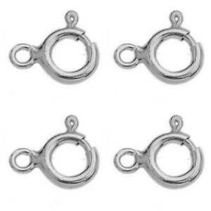 10 Sterling Silver Bolt Rings 5.5mm Clasps Jewellery Findings