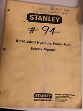 Stanley SP-10-2000 Hydraulic power unit service manual Item 66