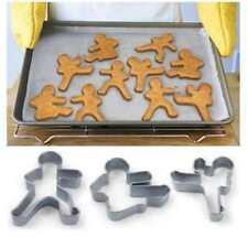Ninjabread Men Cookie Biscuit Cutters - Kung Fu Gingerbread 3Pcs Ninja Man Men S