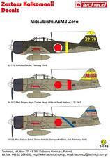 Techmod Decals 1/24 MITSUBISHI A6M2 ZERO Japanese WWII Fighter Part 2