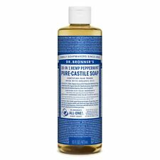 Dr. Bronners Peppermint Castile Soap Made With Organic Ingredients 473 Ml