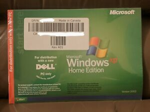Microsoft Windows XP Home Edition Software Dell Reinstallation CD Sealed no COA
