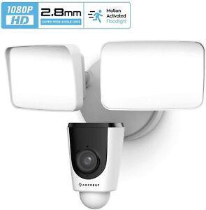 Amcrest SmartHome 1080p WiFi Outdoor Security Camera Floodlight Alarm Floodlight