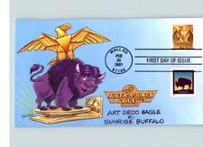 Dave Bennett Cachet, Violet Buffalo et Golden Eagle, 2001 First Jour de Édition