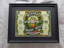 MCGUIRES IRISH RED BEER SIGN   #1317