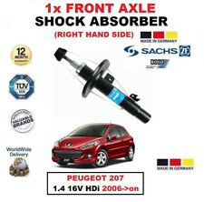 FOR PEUGEOT 207 1.4 16V HDi 2006->on SACHS FRONT AXLE RIGHT HAND SHOCK ABSORBER