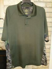 RedHead Mens LG Olive Green & Camo Performance Polo