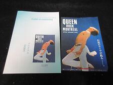 Queen Rock Montreal Japan Film Program Book with Promo Flyer Freddie Mercury
