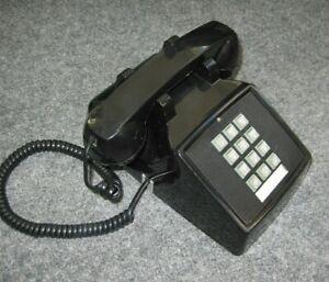 Retro Vintage Desk TELEPHONE Phone BLACK Cortelco Push Button Office 08/17 USA